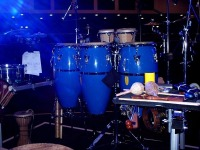 [Percussion set up]